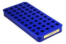 Frankford Arsenal 50 Round Brass Reloading Tray #5s Polymer Blue Fits 45 Acp