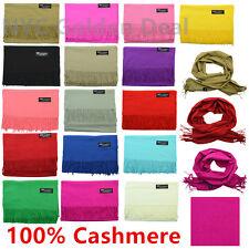Wholesale Lot Men Women 100% CASHMERE Scarf Scotland Pure Solid Color Soft Wool