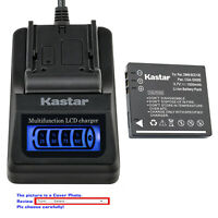 Kastar Battery LCD Quick Charger for Panasonic SDR-S10 SDR-S10EB-K SDR-S10EG-K