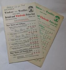 2 Vintage 1959 catalogues Windsor Woollies 1950s childrens fashion clothing w