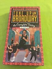 New Sealed TONE UP ON BROADWAY Workout  Richard Simmons Exercise *VHS Tape