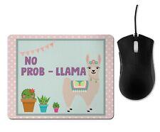 Fun Mouse Mat, Mouse Pad, Llama ...No Prob-llama...Funny/Cute Gift For her..