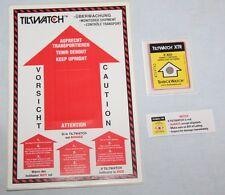 LOT DE 5 TILTWATCH XTR Shockwatch - Indicateur de renversement Colis Palettes
