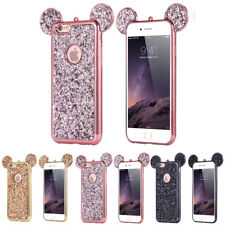 Luxury Bling Soft TPU Protective Cute Case Mickey Ear For iPhone Samsung Phones