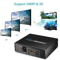 2 in 1 HDMI Kabel Splitter Verteiler Umschalter Full HD 3D 1080P Ada X8X9 O2J0