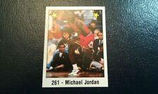 Michael Jordan Chicago Bulls #261 1989 Panini Espana Spanish Sticker RARE Odd