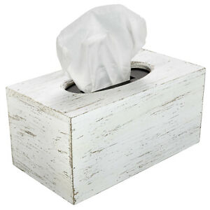 Rustic Brown Barnwood Tissue Box Cover: Tissue Rectangle Box (Pack of 1)