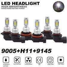 Mini LED Headlight 9005 H11 + 9145 Fog Lights For Ram 1500 2500 3500 2010-2019