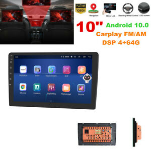 "10"" Double Din Car Stereo Radio Audio Android 10.0 GPS Navigation Carplay 4+64G"