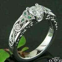 Celtic Knot Round Diamond DoubleMilgrained Engagement Ring 14K White Gold Finish