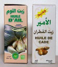 HUILE D'AIL 60ML + HUILE DE CADE 60ML