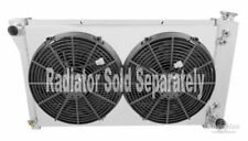 "Chevy C/K Series Trucks Aluminum Radiator Fan Shroud & 2-14"" Fans-17""H x 28 1/4"