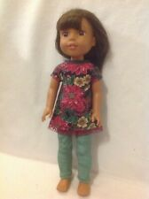 Fit Wellie Wishers American Girl 14 doll clothes Christmas dress leggings outfit