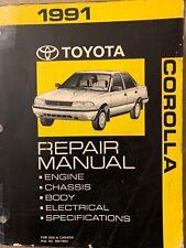1991 Toyota Corolla Repair Service Manual