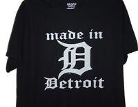 Detroit Hoodie Old English D Town City Michigan Hoody Black