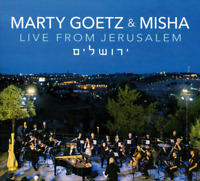 Marty Goetz & Misha • Live From Jerusalem CD 2018 Singin' In The Reign •• NEW ••