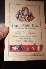 Funny Match Box Magic Trick Advertising Program 1920's C Hemstedt Wonder Mouse