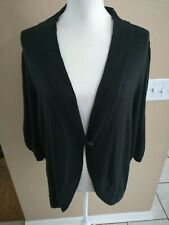 Lane Bryant 3/4 Sleeve Open Front Shrug  Black Size 18/20 Z6