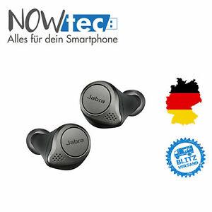 Jabra Elite 75T True Wireless Kopfhörer - Titanium Schwarz Unbenutzt WIE NEU