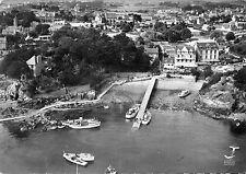 Carte Ile de BREHAT Vue aérienne Le Port Clos et vue du Bourg