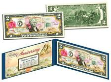 HAPPY ANNIVERSARY Keepsake Gift $2 Bill US Genuine Legal Tender with Folio & COA