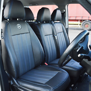 Mercedes Vito W447 9 Seater Waterproof Tailored Van Leather Look Seat Covers