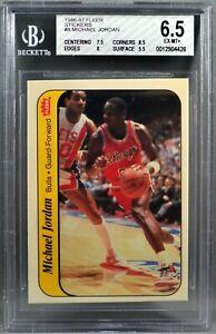 86-87 Fleer Michael Jordan ROOKIE RC STICKER 1986 1987 CHICAGO BULLS BGS 6.5 MT+