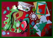 Children's Traditional Xmas crafts . Cards/envelopes+Tags+Xmas trees+decorations