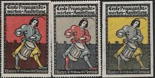 Germany: 1912 Munich First Advertising Exhibition, Set of 3 stamps (dw503)