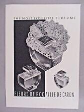 Fleurs de Rocaille de Caron Perfume PRINT AD - 1940