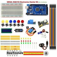 Upgrade Kit MEGA 2560 R3 Breadboard LED LCD SG90 DHT11 Relay MB102 for Arduino