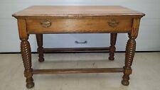 Antique Oak Table with twist Legs