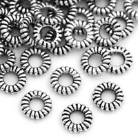 500PCs Silver Closed Rings Stripe Jewelry Findings 5mm