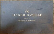 Singer Gazelle Owners Handbook Manual 1958 No.6600652 IB.318/2 Series III