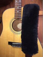 REAL Sheepskin Shoulder STRAP PAD for Guitar, Banjo, musical instrument Slings