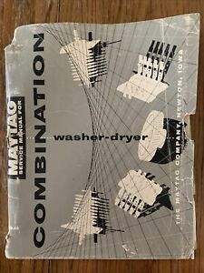 Maytag Combination Washer Dryer Service Manual (1959)