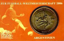 Gedenkmünze,Sondermünze,Fussball WM 2006,Motiv Argentinien,Vergoldet,Rarität,Top