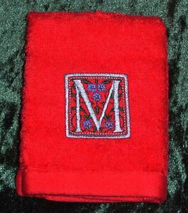 Personalised embroidered   face cloth/flannel  with Monogram
