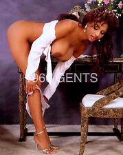 "1980s NUDE 8X10 PHOTO BUSTY BIG NIPPLES EBONY PINUP ""CONI""  FROM ORIGINAL NEG-4"