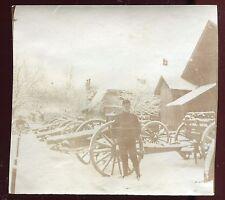 Guerre 1914-1918. Suisse. canons  . photo originale de 1915