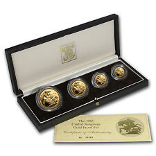 1985 Great Britain 4-Coin Gold Sovereign Proof Set - SKU #12983