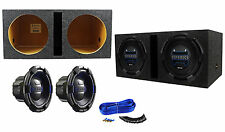 "(2) Hifonics Brutus BRX12D4 12"" 1800w Car Subwoofers + Vented Sub Enclosure Box"