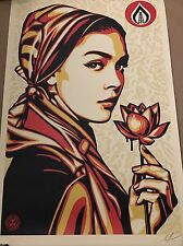 Shepard Fairey - Obey Lady SIGNED  art free banksy Photo un LAST ONE !
