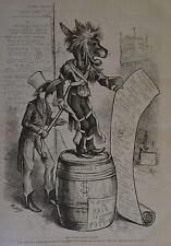 Thomas Nast. The Lionized Asinus Vulgaris. Eagle Uncle Sam Harper's Weekly, 1876