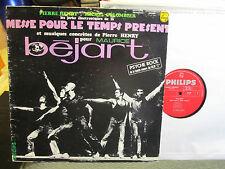 PIERRE HENRY Messe pour le Temps Present Philips lp OOP avant garde '67 bejart!