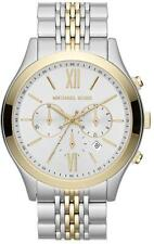 NEW MICHAEL KORS MK8306 MENS TWO TONE BROOKTON WATCH - 2 YEAR WARRANTY