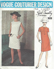 1960s Vintage VOGUE Sewing Pattern B38 DRESS (1103) By Sybil Connolly