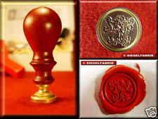 Udig Siegel Stempel Petschaft Löwe 24 mm Siegelstempel Buchenholzgriff
