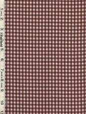 Michael Miller Pink Brown Kid Check Fabric bty  PRICE REDUCED