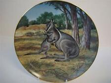 BRADEX THE ENDANGERED SPECIES COLLECTION THE BRIDLED WALLABY ( KANGEROO ) PLATE